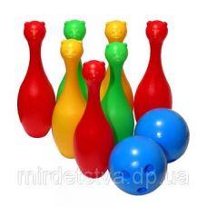 Кегли, 1 шар, в сетке 23*23*25см, (12шт), ТМ M-toys арт. 130063