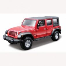 Авто-конструктор - JEEP WRANGLER UNLIMITED RUBICON (красный, 1:32)